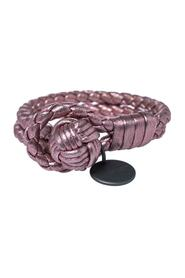 pre-owned Intrecciato Leather Double Row Knot Bracelet