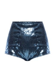 High-waisted shorts with sequins