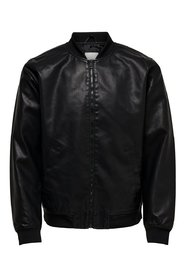Faux Leather Jacket Bomber