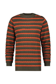 Striped Cable Sweatshirt