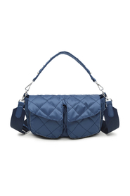 Emily Navy Quilt Unlimit Shoulder Bag