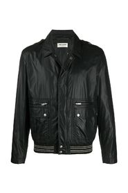 Bomber jacket with Italian collar