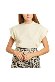 Elix cotton t-shirt with pleated sleeves
