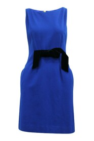 Dress with Velvet Bow at Front