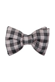 Vichy checkered bow tie