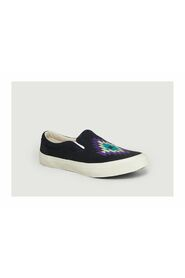 Slip On Embroidered Trainers