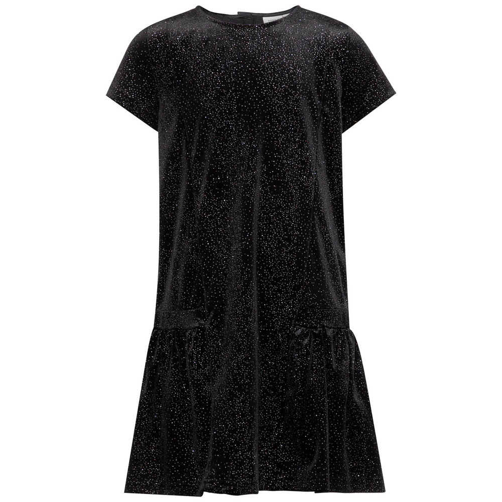 Dress glitter dotted velvet