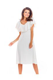 Sukienka z falbaną przy dekolcie A304