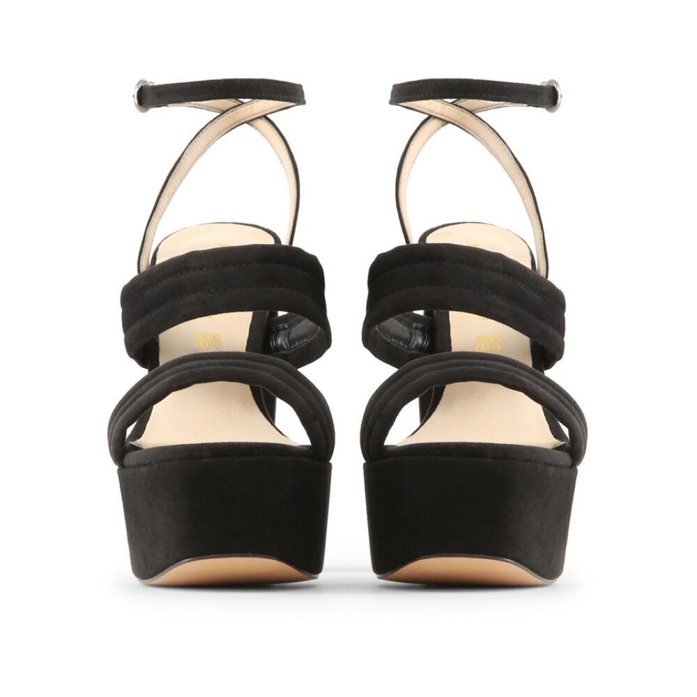 Black FEDORA Sandals   Made in Italia   High Heel Sandals   Women's shoes