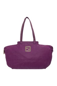 Pre-owned Suede Gold Zip Detail Shopper