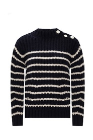 Knit-rib sweater