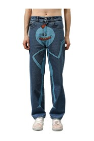Jeans con stampa 'rich and morty'