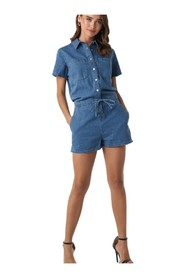 Utility Denim Playsuit