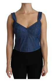 Sleeveless Bustier Cotton Top