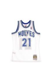 CANOTTA BASKET NBA SWINGMAN JERSEY HARDWOOD CLASSICS NO21 KEVIN GARNETT 1995-96 MINTIM HOME