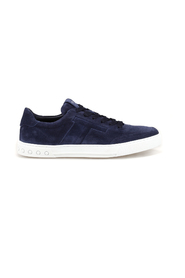 Suede sneakers with padded T