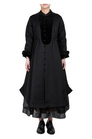 Piping Front Long Jacket