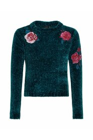 Jumper floral embroidered