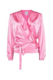 Evelyn satin blouse