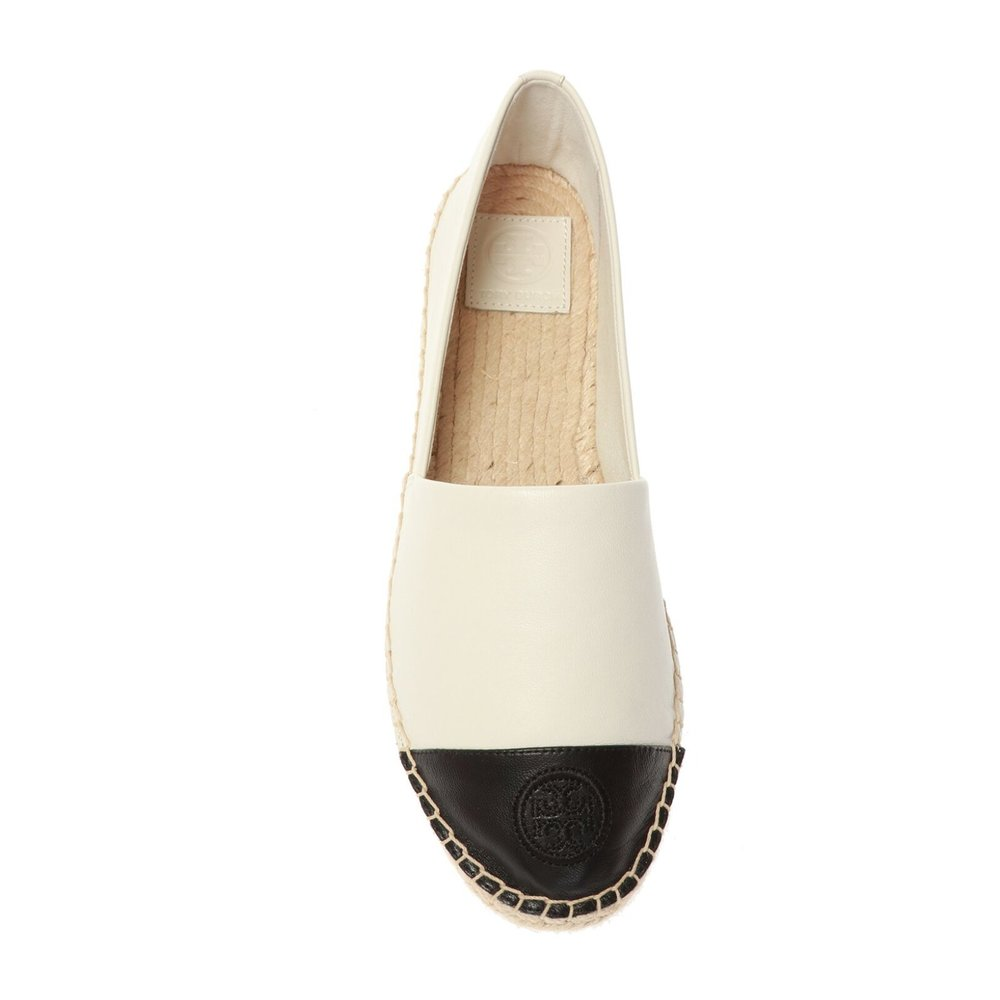 Leather espadrilles with logo