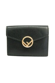 pre-owned F IS FENDI MICRO TRIFOL WALLET 8M0395 Leather Wallet (tri-fold)