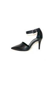 Sort Front Society pumps med ankel rem