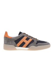 H357 retro volley sneaker in suede and fabric
