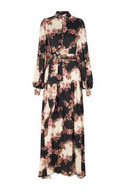 Abra Dress - Flower Black
