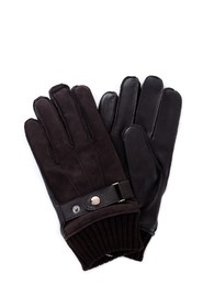 GUESS AM8575LEA02 Gloves Men BROWN
