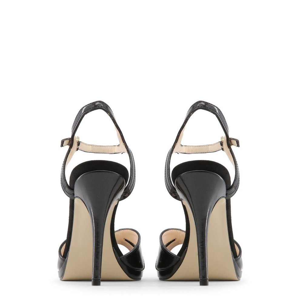 Black PEARL Sandals | Made in Italia | High Heel Sandals | Women's shoes