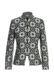 PRINTED FITTED JACKET