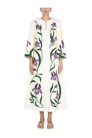 CAFTAN WITH IRIS EMBROIDERED