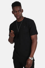 Le Fix Kaj Embroidery Tee Black