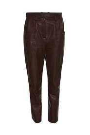 Nuri Pants Ankle-length leather trousers