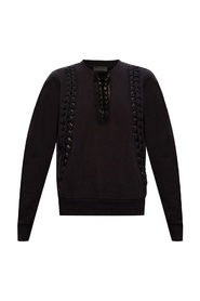 Sweatshirt w/ lace-up detailing