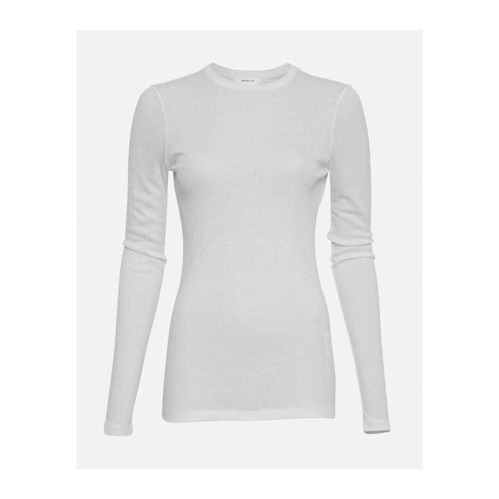 White Top | Moss Copenhagen | Langermede trøyer | Topper Til Dame