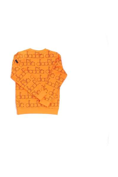 Agréable Orange Crewneck Sweatshirt Diadora Sweat-shirts et sweat-shirts à capuche 5LBJx