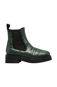 Padded square-toe Chelsea boots