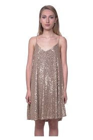 Flared sequin dress