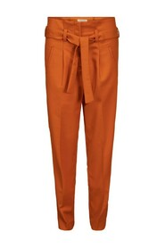 belt pants orange pants