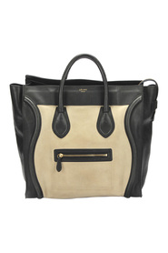 Pre-owned Luggage Suede Tote Bag