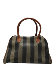 Pre-owned Pequin Satchel Fabric Coated Canvas