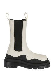 RUBBER SOLE BOOTS MILITARY CALF