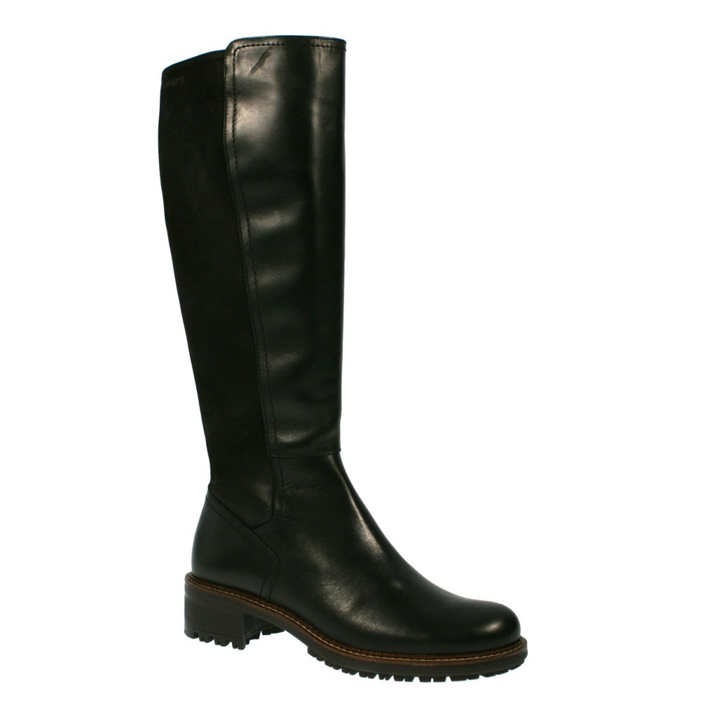 Wonders Boots Black Leather E-5025