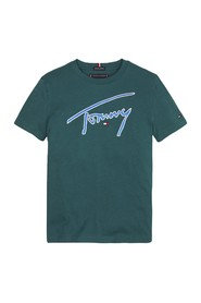 TOMMY HILFIGER KB0KB05130 TOMMY SUGNATURE T SHIRT AND TANK Unisex Boys GREEN