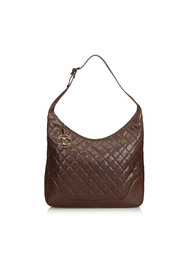 Quilted Caviar Leather Shoulder Bag