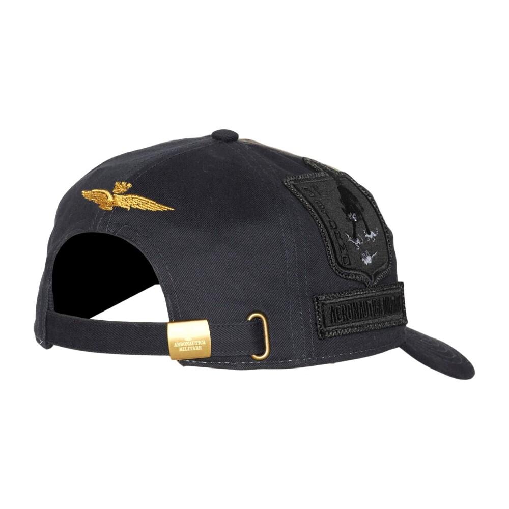 Black HA1055 BASEBALL CAP AND PATCH | Aeronautica Militare | Mössor | Nyaste Herrtillbehör xxt0H