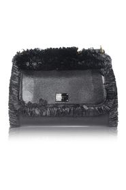 Siciliy Medium Lizard-Effect Leather Tote Bag With Fringes