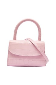 MINI PINK CROCO EMBOSSED LEATHER BAG