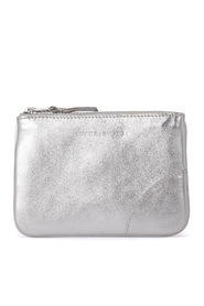 Wallet silver leather purse